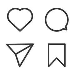 Set of vector internet icons, social icons
