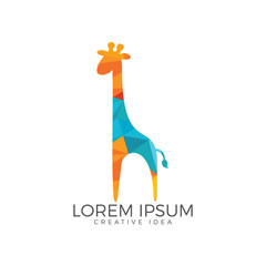 Giraffe logo design. Creative animal logo.
