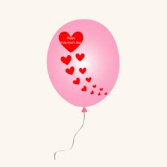 Hearts on balloon