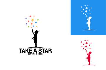 Take a Star Logo Template Design Vector, Emblem, Design Concept, Creative Symbol, Icon
