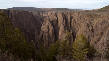 Wall Mural - Scenic Scenic Black Canyon of the Gunnison National Park. Colorado USA. November Scenery.
