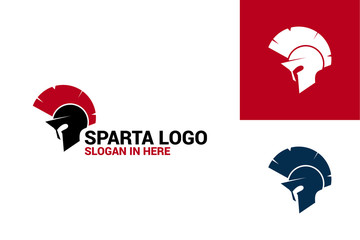 Spartan Warrior Logo Template Design Vector, Emblem, Design Concept, Creative Symbol, Icon