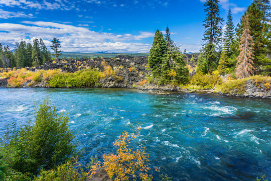 Beautiful Deschutes River close to Bend Oregon