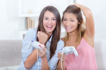 sisters playing video games
