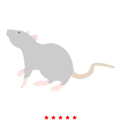 Rat icon Illustration color fill style
