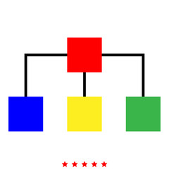 Network icon Illustration color fill style