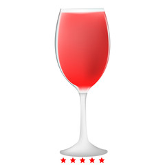 Glass of wine icon Illustration color fill style