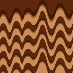 melted chocolate sweet pattern design vector illustration
