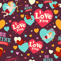 Valentine Day Wallpaper Seamless Pattern Background