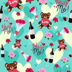Valentine Day Wallpaper Seamless Pattern Background
