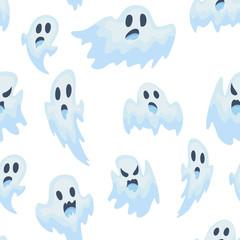 halloween ghost vector semless pattern