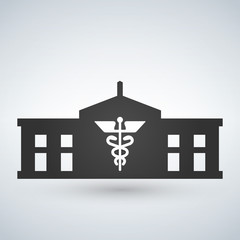 Hospital icon medical symbol building isolated human medical view.