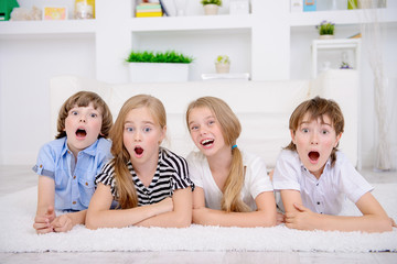 four funny children