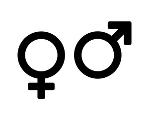 Obraz symbol mężczyzny i kobiety ikona - fototapety do salonu