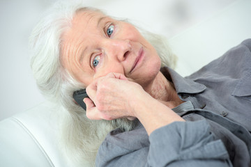 senior woman calling her friend