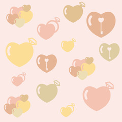 Love Seamless Patterns. You can use this vector for background or illustration.
