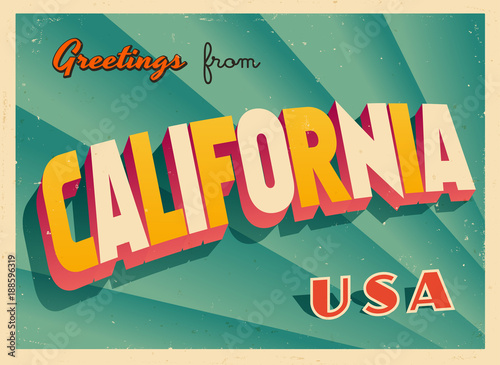 Vintage touristic greetings from california usa postcard vector vintage touristic greetings from california usa postcard vector eps10 grunge effects can be m4hsunfo