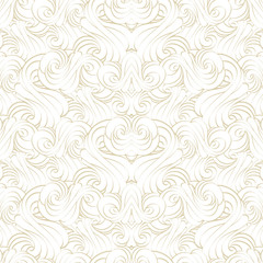 Seamless pattern of geometric waves and curls. Abstract texture.
