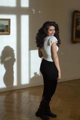 Beautiful oriental Girl Model indoor Photo Session