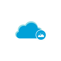Cloud computing icon, picture icon