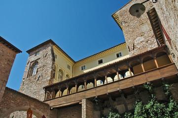 Spello, Umbria - strade e case del villaggio