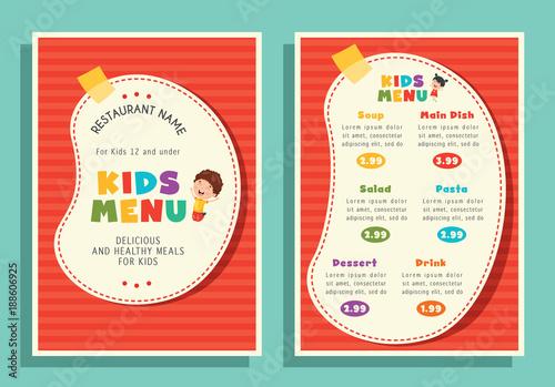 Vector illustration of kids menu template stock image and royalty vector illustration of kids menu template maxwellsz