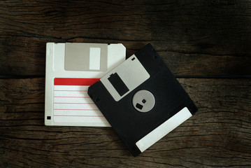 floppy disk on wooden floor