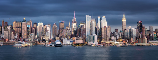 Fotomurales - New York City Panorama mit Empire State Building, USA