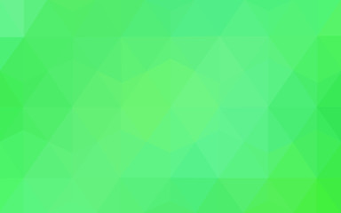 Light Green vector Lowpoly Background with copy-space. Used opacity mask.
