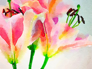 Day Lillies in Watercolor