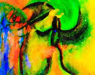 Dancing In paradise Watercolor