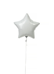 Single white gold star balloon object for birthday  party