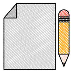 paper document with pencil vector illustration design