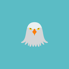 Icon flat eagle head element.  illustration of icon flat bird isolated on clean background. Can be used as eagle, bird and head symbols.