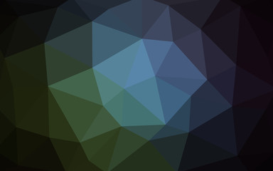 Dark Blue, Green vector polygonal design pattern. Consist of gradient triangles in origami style.