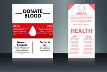 Health Care and Medical Poster Brochure Flyer design Layout vector template in A4 size