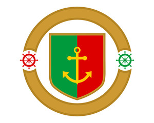 portugal anchor navy marine harbor port symbol icon image