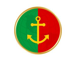 portugal anchor hook harbor navy marine icon symbol image