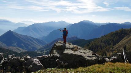 Grandi spazi in alta montagna