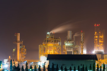 View factory at night