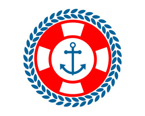 buoy anchor hook harbor navy marine icon symbol image