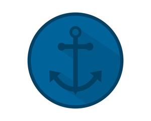 blue anchor hook navy marine harbor port symbol icon image