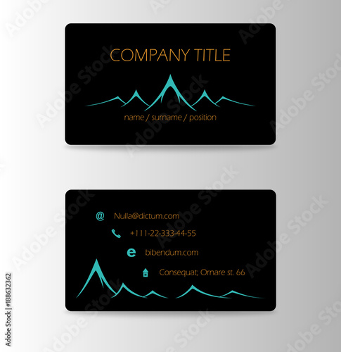 Vintage summer camping business card mountain adventures and vintage summer camping business card mountain adventures and outdoor activities reheart Choice Image