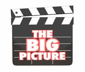 The Big Picture Movie Film Clapper Board 3d Illustration