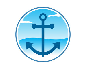 sailor anchor navy marine harbor port symbol icon image