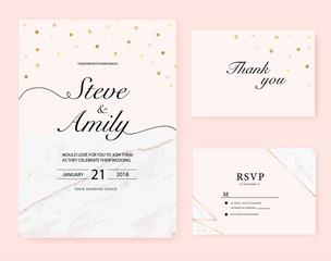 Marble wedding card