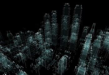 Cityscape futuristic 3d city neon light