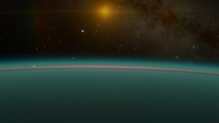 Uranus Planet Fly Over