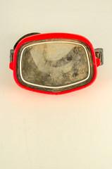 Close-up of vintage scuba mask