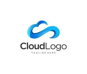 cloud modern logo icon
